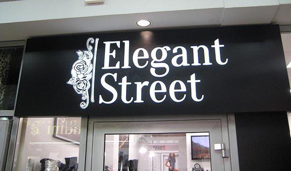 интерьерная реклама в торговом центре