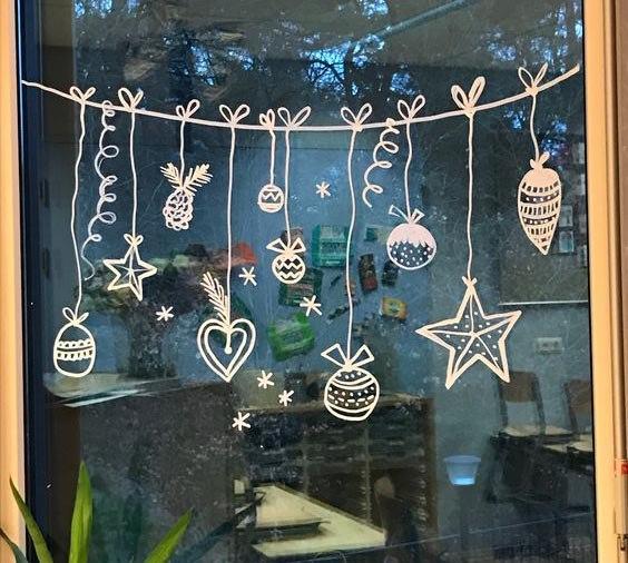 новогодние оформление витрин